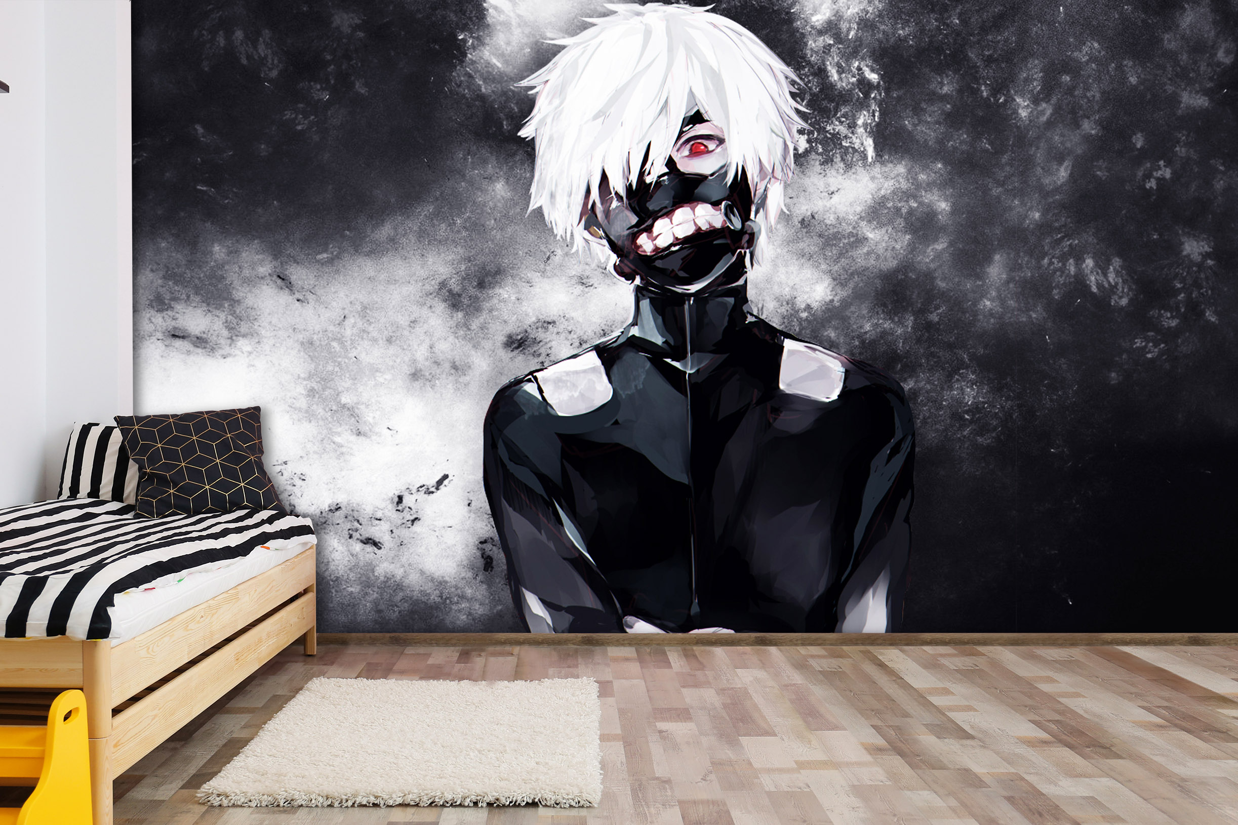 Details about  /3D Tokyo Ghoul A185 Japan Anime Wall Stickers Murals Wallpaper Zoe