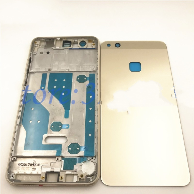 Full Housing For <font><b>Huawei</b></font> <font><b>P10</b></font> Lite LCD Front Frame+Glass Back <font><b>Battery</b></font> <font><b>Cover</b></font>+Housing Middle Frame Adhesive Sticker+Buttons image