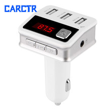 Car FM Transmitter Bluetooth Transmitters 3 USB Port Handsfree Wireless Audio MP3 Player Car Charger LCD Screen 12V 5.2A BC12 bc12 3 ports usb car charger black