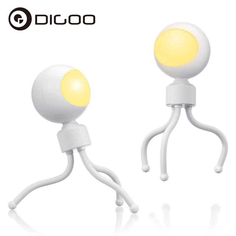 DIGOO DG-L13 Smart Acoustooptic Control Night Light 3200K USB Charging 360 Adjustable Reading Light Rechargeable Table Lamp