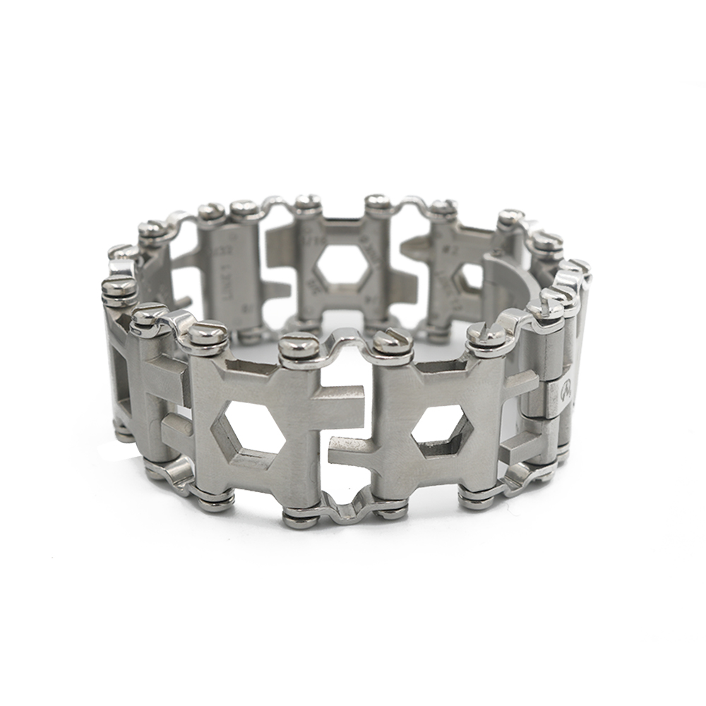 Tools : 29 in 1 Multifunctional Tread Bracelet Stainless Steel Outdoor Bolt Kits Wearable Tool MultitoolDriver Tools