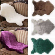 Новое поступление, чехол для стула из искусственной овечьей кожи, Теплый Ковер, пушистый меховой комнатный коврик, мягкий Австралийский ков...