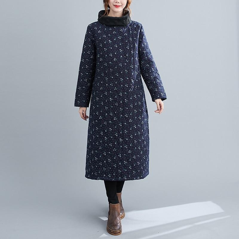 long sleeve plus size cotton vintage floral for women casual loose autumn winter dress elegant clothes 2021 ladies dresses 7