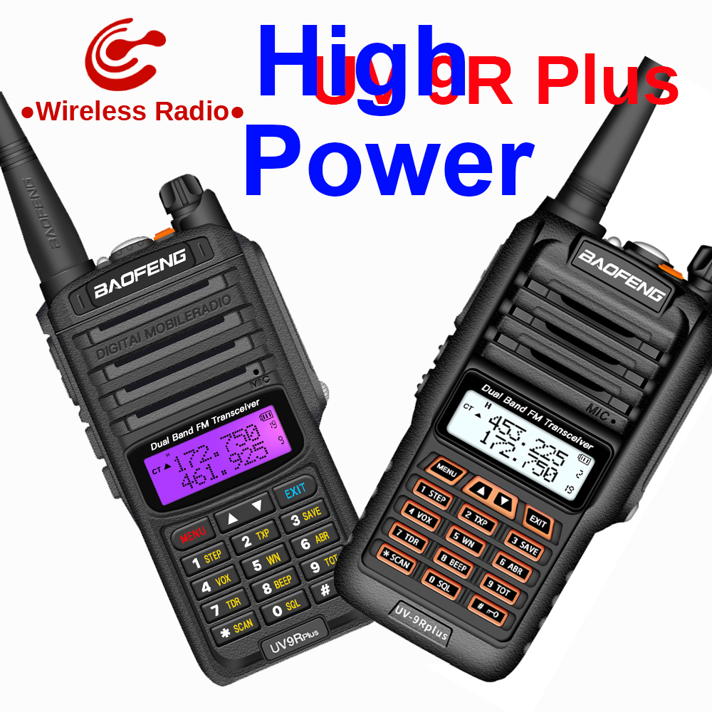 Baofeng UV 9R Plus walkie talkie 10-50km Long range two way radio baofeng vhf uhf uv9r plus ham radio CB radio station image