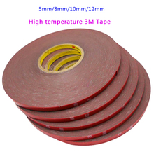 33m/Roll 5mm 8mm 10mm 12mm High temperature 3M Tape for Auto Truck Acrylic Foam Double Side Adhesive Tape Car Stickers 33m lot 3m high temperature tape 5 8 10 12 mm automobiles for double side adhesive tape car exterior tape car stickers