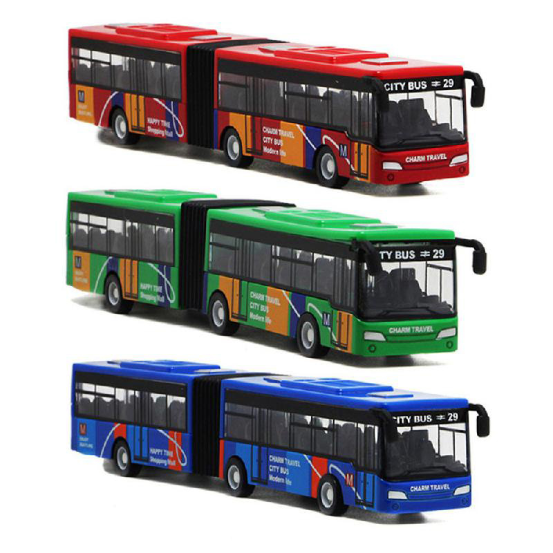1:64 Bus Model Toys Car Set Double Bus Pull Back Alloy Toy Extended Version Of The Bus Alloy Car Model Collectible Model Toys