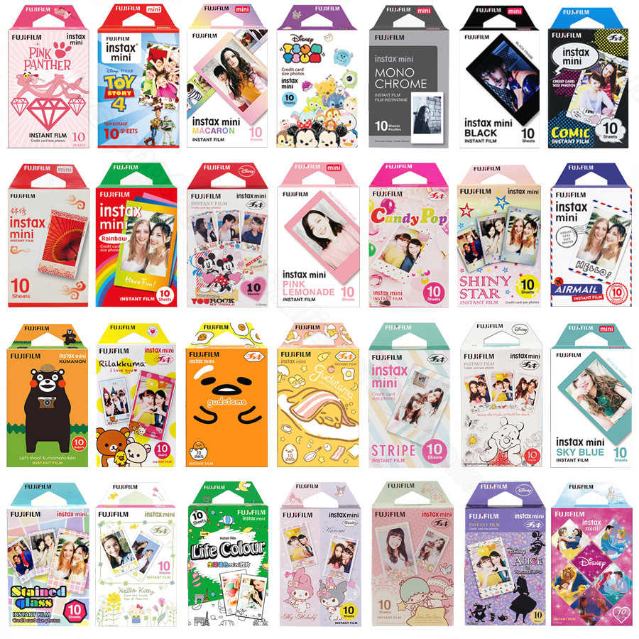 Genuine Fujifilm Instax Mini 8 9 Film Color Photo Paper 10pcs For Fuji 9 8 7s 50s 50i 90 25 70 Share SP-2 SP-1 Instant Camera