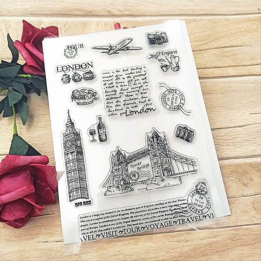 Лидер продаж прозрачный штамп «городской мост»/силиконовый альбом для скрапбукинга «сделай сам»/производство открыток