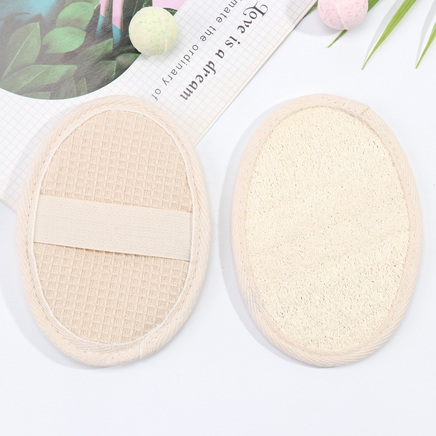 1PC Loofah Bath Shower Sponge Body Scrubber Sponge Scrub Handle Shower Massage Brush Skin Body Washing Accessories 2