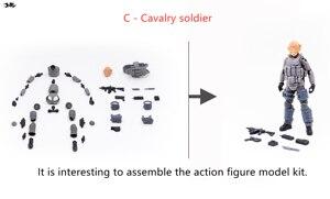 Image 4 - JOYTOY 1/18 アクションフィギュア組立、ない色モデルキット兵士 DIY コレクションのおもちゃ送料無料