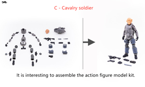 Image 4 - JOYTOY 1/18 action figure Unassembled, not colored model kit soldier figures DIY Collection toys Free shipping