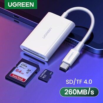 UGREEN USB Type C Card Reader SD TF Micro SD 4.0 UHS-II USB-C 3.1 OTG Memory Card Reader Adapter for iPad Pro 2018/2020 MacBook
