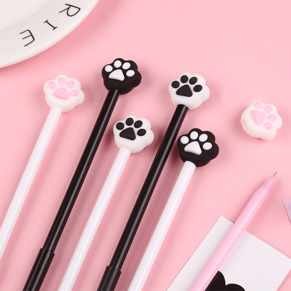 Creative Stationery Girl Heart Cute Cat Gel Pen 0.5MM Pen Student Writing Tool Stationery School Office Supplies Signature Pen
