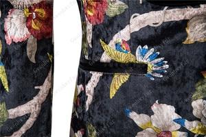 Image 5 - Gwenhwyfar Knappe Luxe Mannen Pak Hoge Kwaliteit Bloemen Patroon Jas + Broek Nieuw Design Grote Verkoop Mannen Trouwpak Beste mannen