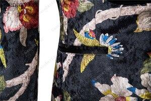 Image 5 - Gwenhwyfar ハンサム高級男性のスーツ高品質花柄ジャケット + パンツ新デザイングレート販売男性の結婚式のスーツベストマンスーツ男性
