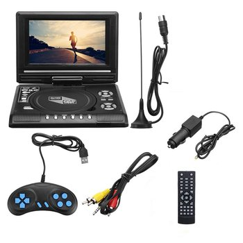 7.8 Inch Portable HD TV Home Car DVD Player VCD CD MP3 DVD Player USB SD Cards RCA TV Portatil Cable Game 16:9 Rotate LCD Screen car dvd player with 9 inch car headrest dvd player monitor with 800 480 touch screen speaker support usb sd games remote control