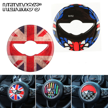 Steering Wheel Center Decor For Mini Cooper Styling Sticker Accessories For Mini Cooper Clubman Countryman F54 F55 F56 F57 F60 phone stand car phone holder on steering wheel for bmw mini cooper f54 f55 f56 clubman countryman holder