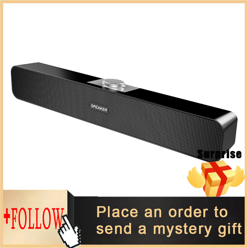 TV Sound Bar Wired and Wireless Bluetooth Home Surround SoundBar for PC Theater TV Speaker
