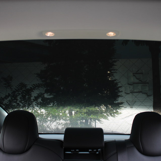 ❤️ Heenvn Model3 Sunshade Car Sun Visor Rear Front Sun Shade For Tesla Model 3 Roof Skylight Shades Protector Accessories Three 3