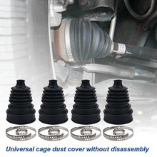 4Pcs Universal Drive Shaft CV Joint Boot Kit Constant Velocity Dust Cover for Mercedes-Benz W251 R280 R300 R320 R350 R500 R550 R
