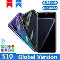 Мобильные телефоны S10 Gloabl версия 4 ГБ ОЗУ 64 Гб ПЗУ смартфон распознавание лица разблокированный четырехъядерный Android 5,1 две sim-карты 3G