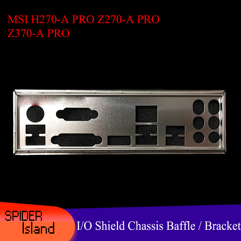 I/O Baffle Shield Back Plate For MSI H270-A PRO Z270-A Z370-A PRO Motherboard Baffle Rear Panel Chassis Motherboard IO Bracket