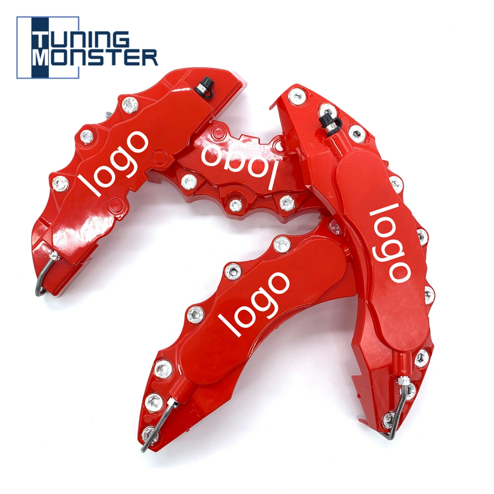 KQZLLL 4pcs Brake Caliper Covers ABS Plastic Truck 3D Red Useful Car Universal Disc Front Rear Auto Universal Kit
