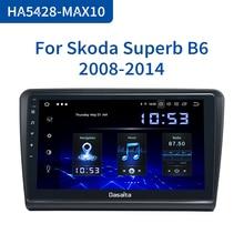 Dasaita Radio con GPS para coche, Radio con Android 10,0, 1 Din, pantalla táctil multitáctil de 2008 pulgadas, HDMI, para Skoda Superb 2009, 2010, 2011, 2012, 2013, 2014, 10,2