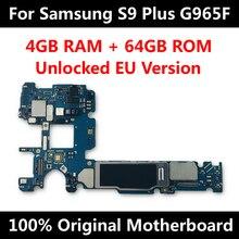 Nova chegada ótima placa mãe para samsung s9 g965f g960u g965u g960u g965fd g960fd mainboard completo testado imei os placa lógica