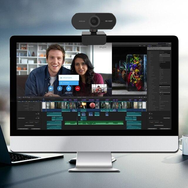 Mini Drehbare HD 1080P Webcam Computer PC Web Kamera mit Mikrofon Kameras für Live Broadcast Video Aufruf Konferenz Arbeit