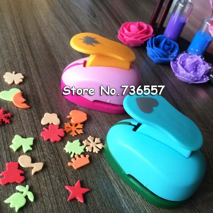 free ship flower furador 5/8'' 1.5cm diy paper cut Eva Foam Maker puncher scrapbooking labor saving for kid hole punch 4