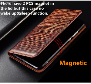 Image 5 - High end lizard pattern natural leather case card slot holder for ZTE AXON 7 A2017/ZTE AXON 7 Mini magnetic phone case cover