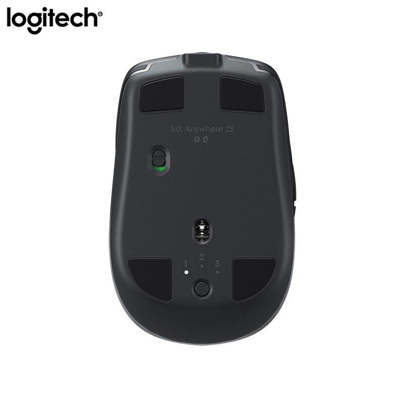 Logitech Anywhere MX 2S 2.4GHz Wireless Mouse 4000DPI Ricaricabile Bluetooth Gaming Mouse Doppia Connessione Del Mouse Multi superiore del dispositivo - 3