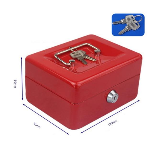Protable Key Locker Safe Home Shop Steel Mini Money Box Security Cash box Storage Box Hidden Coin Money Jewellery 4