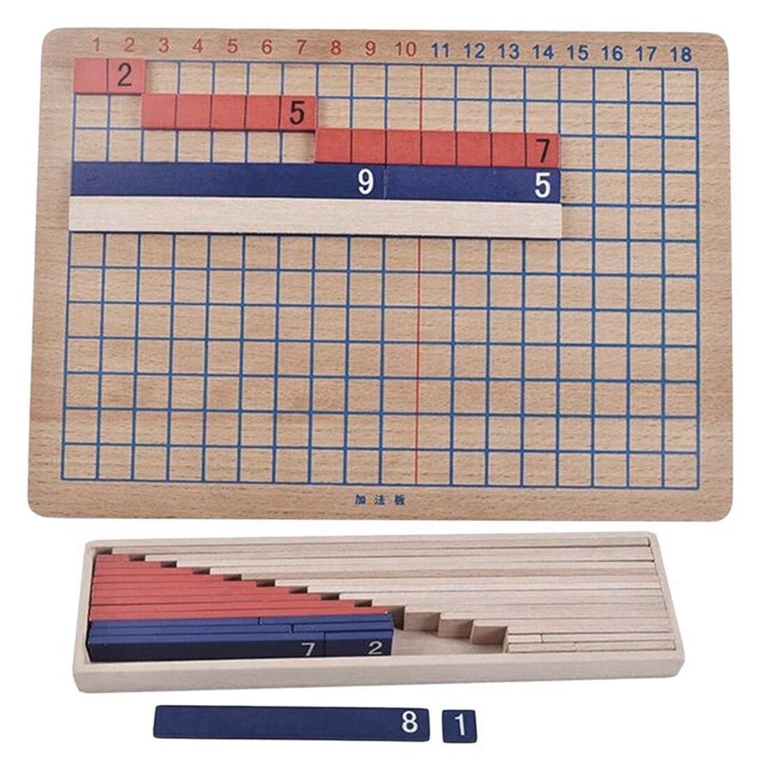 Montessori materiais matemática brinquedos de ensino para crianças de madeira colorido grânulos adição subtração placa matemática brinquedo crianças brinquedos