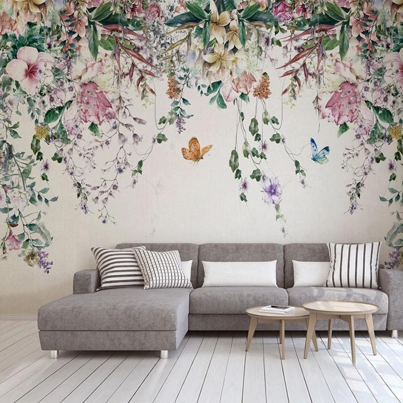 Custom 3d Wallpaper Modern Watercolor Vine Flower Photo Wall Murals Living Room Bedroom Romantic Home Decor Papel De Parede 3 D Big Sale 89d31 Goteborgsaventyrscenter