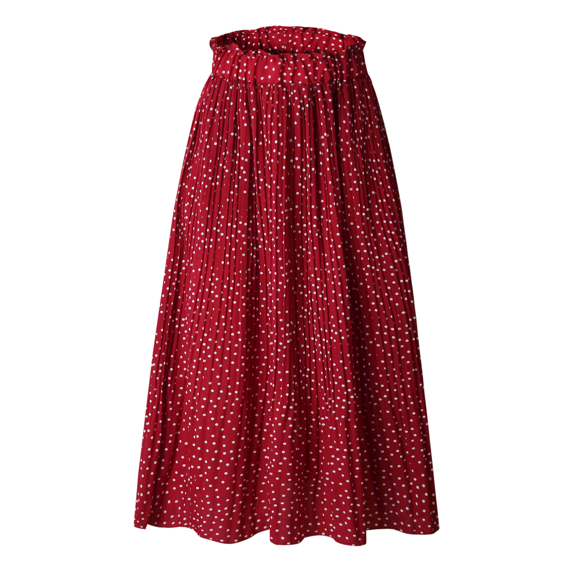 Hbb65132d02f2450ca2f23b7430626d9bH - Summer Casual Chiffon Print Pockets High Waist Pleated Maxi Skirt Womens Long Skirts For Women