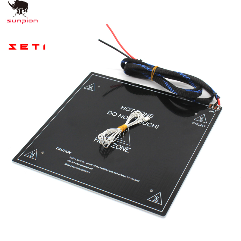3D Printer Parts Heat Bed For Ender Heat Bed Aluminum With Cable  235*235*3MM 24V220W For Creality Ender 3pro 3D Printer