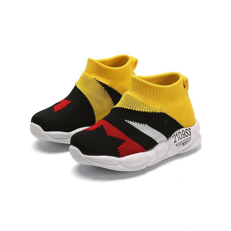 Уличные вязаные детские носки; обувь; детская повседневная обувь; кроссовки для девочек; повседневная обувь для мальчиков; Нескользящие мяг