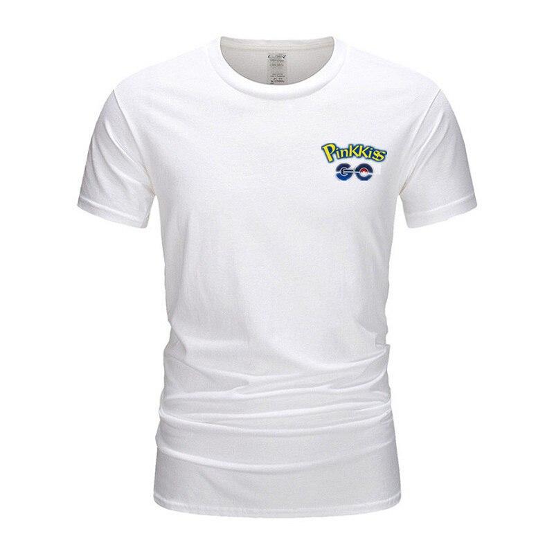 Мужская футболка Pokemon Go, модная футболка с принтом в стиле Пикачу, хип-хоп, футболки с коротким рукавом, 100% хлопок, футболки и топы, TX030