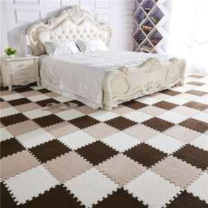 Big Large Area Rugs For Home Living Room Carpet DIY Interlocking Foam Mats EVA Plush Puzzle Carpet Mats Foam For Baby Kids(China)