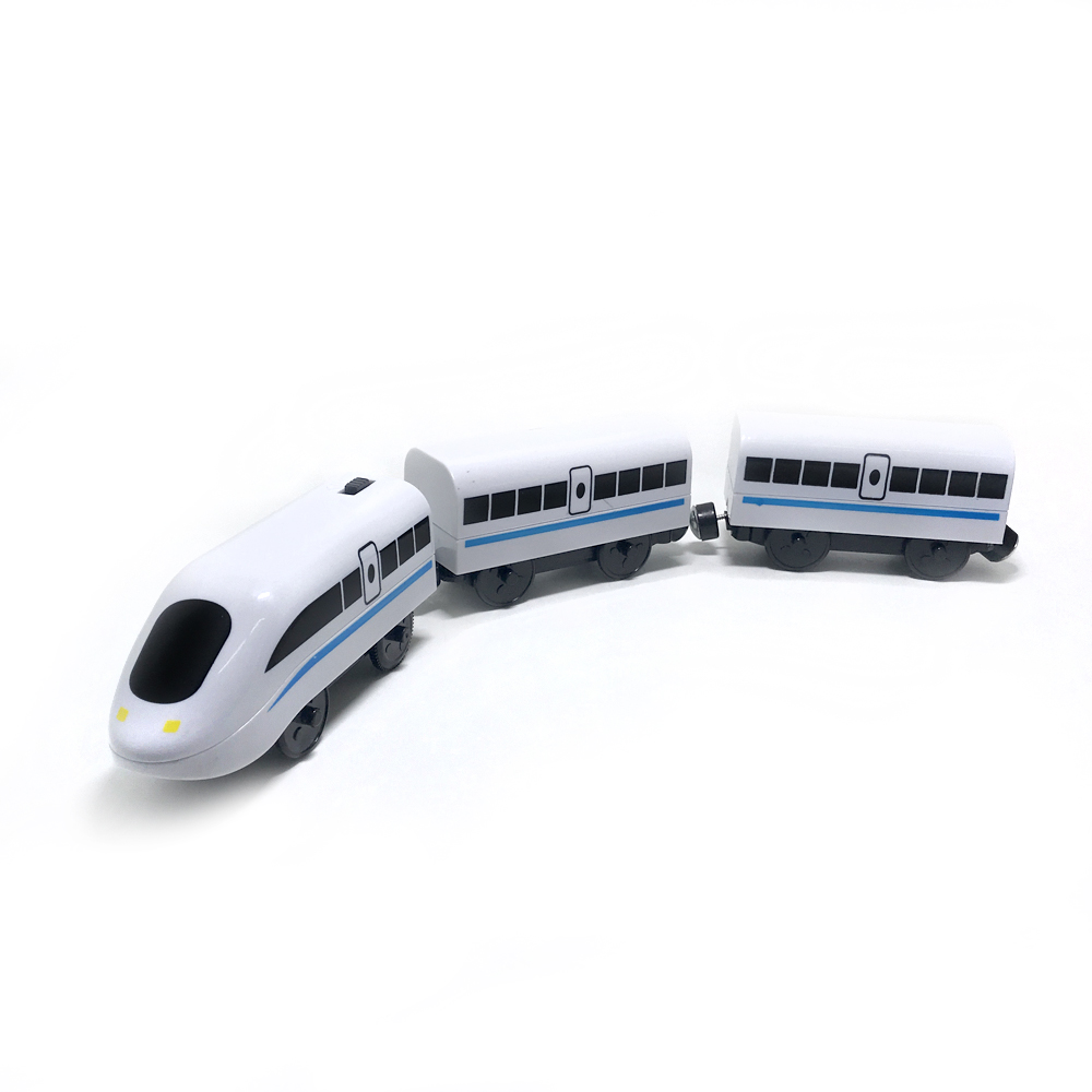 W114 Free Shipping EMU Electric Rail Set Compatible Orbit All Kinds Of Wooden Tracks Children's Track Toys