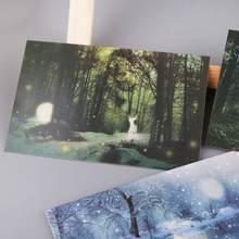 30 шт светящаяся открытка в винтажном стиле