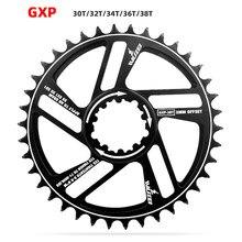 Gxp 3 graus offset cnc alumínio 30/32/34/36/38/40 t roda de corrente bicicleta