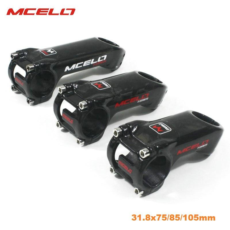 Bicycle Carbon Fiber Stem Bike Ultralight Stem Handlebar Stem 31.8mm 75/85/105mm MTB Road Bike Stem 25 Degree for Pro cyclist