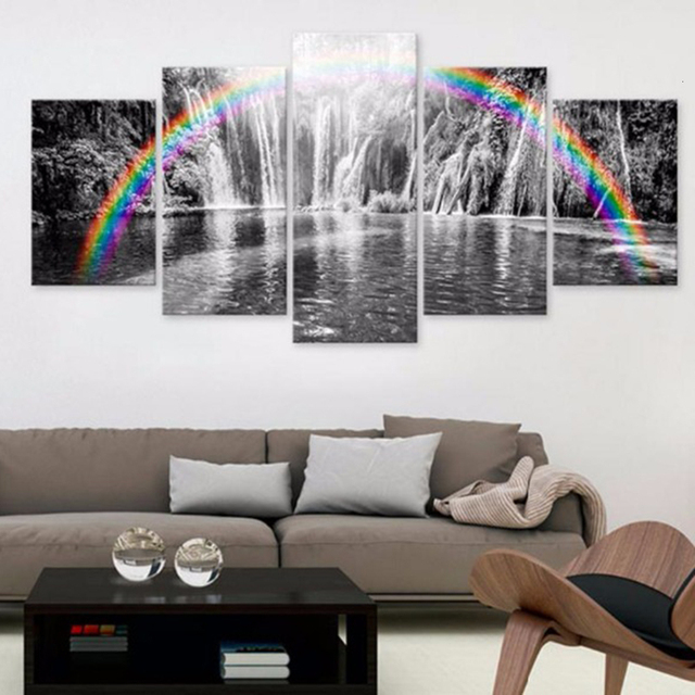 HUACAN 5pcs set Diamond Painting 5D Landscape Waterfall Full Drill Square Diamond Art Embroidery Multi picture