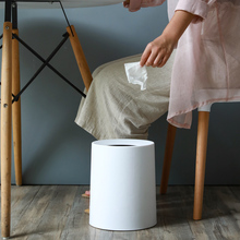 цена на Creative Matte Plastic Waste Bin 8L/12L Dust Bin Storage Bucket Waste Basket Home Office Kitchen Garbage Trash Can Without Lid