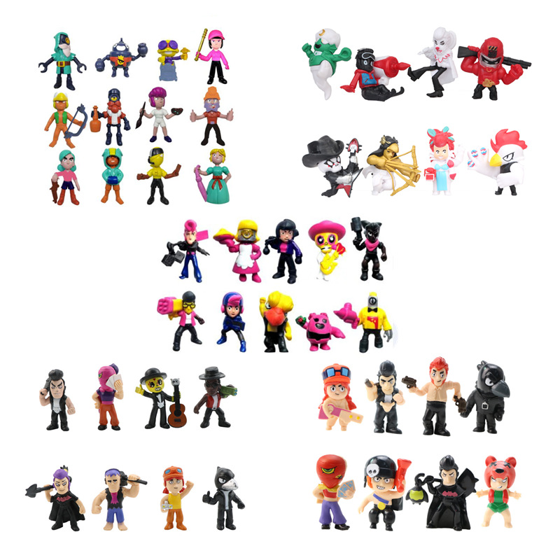 46Pcs/Lot Star Figure Toys Amine Game Poco Shelly Nita Colt Jessie Brock Collectiable Block Model Toy For Children Gifts