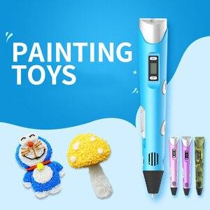 Горячая 3D печать ручка инструменты для красок Рисование высокая температура охрана окружающей среды PLA граффити рисунок дети развивающие игрушки