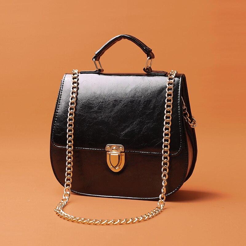 Handbag Leather Women Shoulder Bags Designer Chain Messenger Bags Handbag Famous Brand Classic Fashion Female Cross Body Bag
